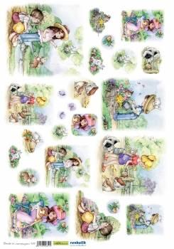Рис. бумага Renkalik Дети в деревне