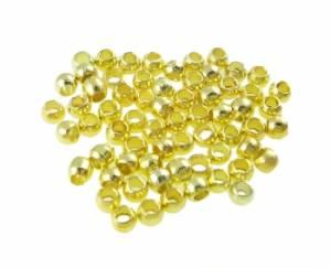Зажимная бусина (кримп), 1,5 мм, 100 шт, цвет Золотистый