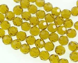 Бусины стеклянные граненые, 10мм, 10 шт, цвет Желтый