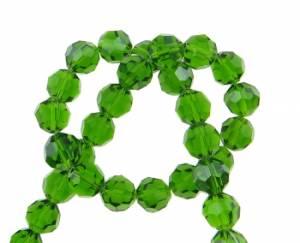 Бусины стеклянные граненые, 10мм, 10 шт, цвет Зеленый
