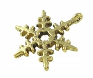 Металлическая подвеска Снежинка 2, цвет Античная бронза
