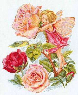 Набор для вышивания 27х33см Фея розового сада