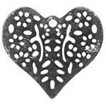 Филигранный элемент Сердце, 1 шт,  цвет Серебро
