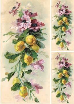 Рисовая бумага Calambour DGR Анемоны и лимоны