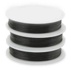 Проволока стальная с нейлоновым покрытием 0,61 мм, цвет Серебро