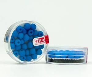 Бусины стеклянные неоновые, 6 мм, 30шт, цвет Голубой