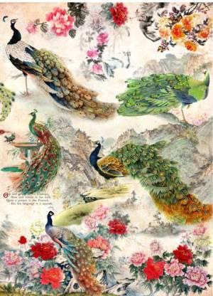 Бумага рисовая Craft Premier Павлины и цветы