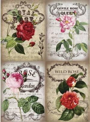 Бумага рисовая Craft Premier Королевские розы