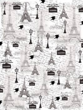 Калька с принтом Ретро Париж, А4