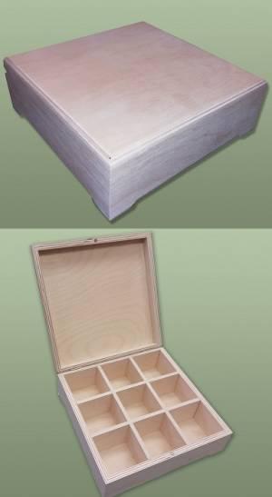 Шкатулка деревянная 9 отделений