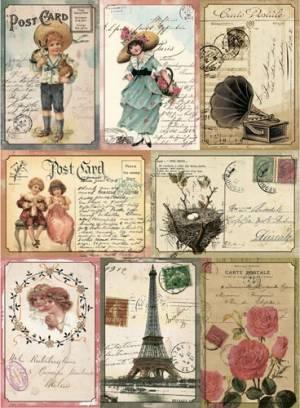 Бумага рисовая Craft Premier Винтажные открытки
