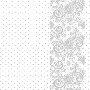 Калька с принтом Узоры и горошек, цвет серый, 30х30 см