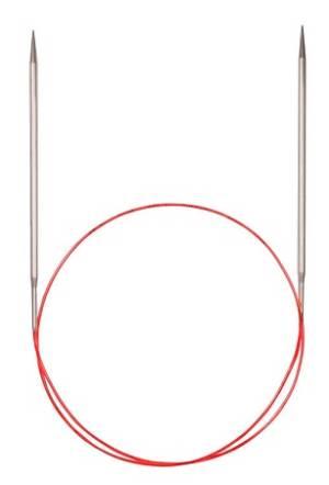 Спицы круговые, никелированные с удлиненным кончиком, №6.5, 120см