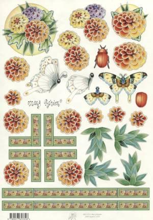 Карта вырезная серии Цветы Marij Rahder №27