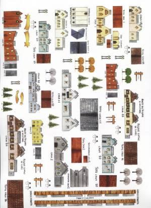 Набор сборных домиков и аксессуаров для объемных композиций