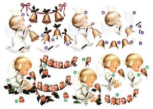 Набор Ангелочки с гирляндами