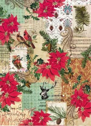 Бумага рисовая Craft Premier, Новогодний коллаж