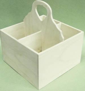 Короб-подставка, 4 отделения, 19х19х20 см