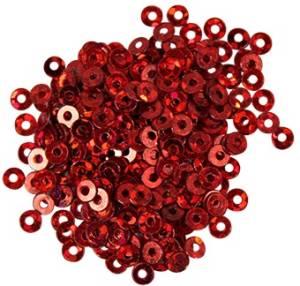 Пайетки плоские, 3мм, 10г, цвет Красный голографический