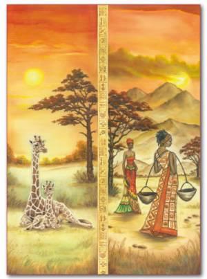 Войлочное полотно с напечатанным рисунком, 50х70см, Африка