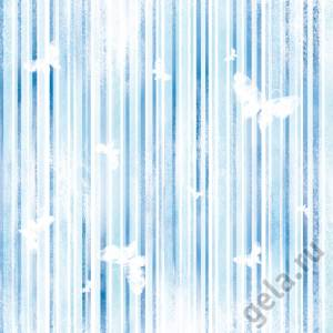 Войлочное полотно с напечатанным рисунком, 30х30см, Полосы, бабочки