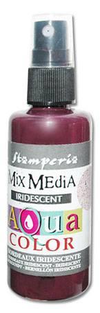Краска-спрей Aquacolor Spray с переливч.эффектом для техники Mix Media, 60мл, цвет Бордовый перламутр
