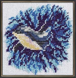 Набор для вышивания бисером 15х15см Дельфиненок