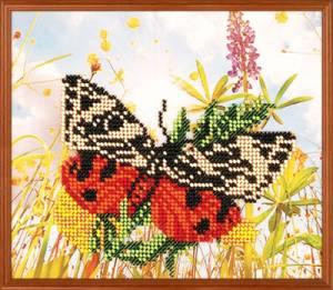 Набор для вышивания бисером с напечат.рисунком 18х13см Тропиканка