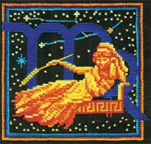 Набор для вышивания 16х16см Дева