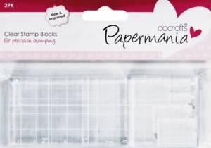 Набор прозрачных блоков для штампов, 2 шт