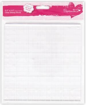 Прозрачный блок для штампов, 16,5х16,5см