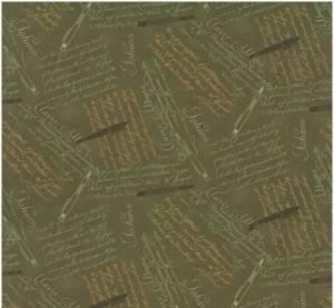 Ткань для пэчворка, 50х55см, Письма