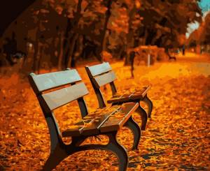 Набор для раскрашивания по номерам, 40х50см, Осенний парк