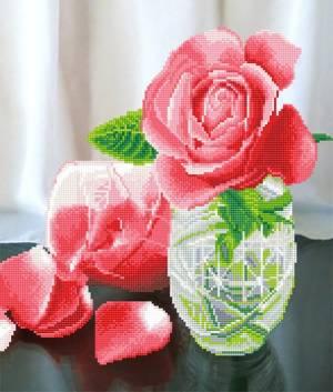 Кристальная мозаика (алмазная вышивка), 49х42см, Магия роз