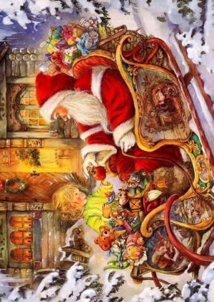 Декупажная рисовая карта ProArt, 13,5х19см, Дед Мороз и сани