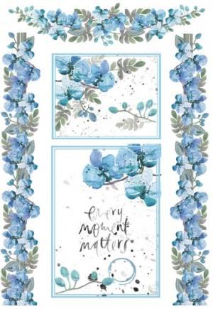 Бумага рисовая Stamperia А4 Акварелельные фиалки, светло -голубые