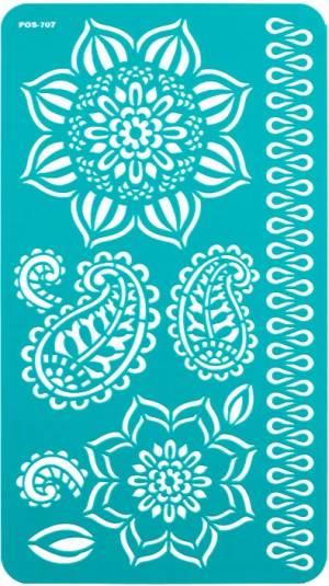 Трафарет на клеевой основе, 11,5х20,5см Цветение