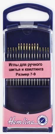 Иглы для ручного шитья и квилтинга №7-9, 16 шт