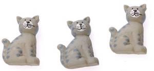 Набор декоративных элементов, 6шт, Кошки