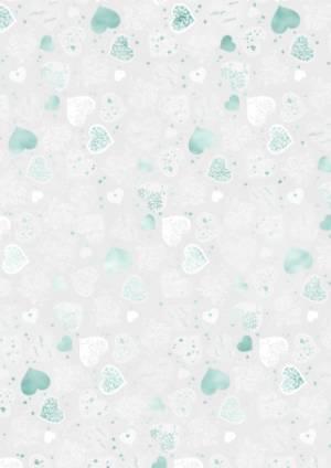 Бумага прозрачная суперпрочная Большие сердечки, А4