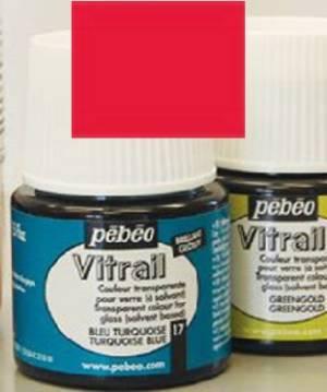 Лаковая краска прозрачная для стекла и металла Vitrail, 45мл, цвет Оранжевый
