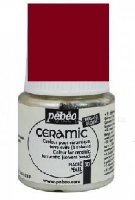 Краска по керамике и металлу Ceramic, 45мл, цвет Рубиновый
