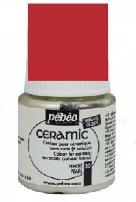 Краска по керамике и металлу Ceramic, 45мл, цвет Красно-вишневый