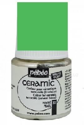 Краска по керамике и металлу Ceramic, 45мл, цвет Зеленый