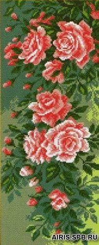 Рисунок на канве 22х45см Плетистая роза
