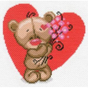 Рисунок на канве 22х25см Мишуткина любовь