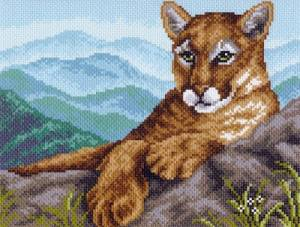 Рисунок на канве 24х30см Пума в горах
