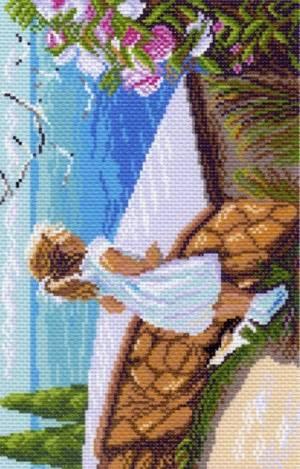 Рисунок на канве 24х35см.(28х37см) Летняя прогулка