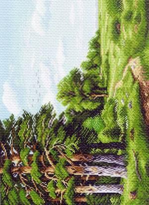 Рисунок на канве 37х49см Лесная окраина