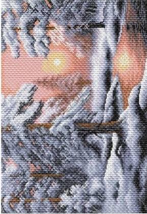 Рисунок на канве 37х49см Морозная сказка